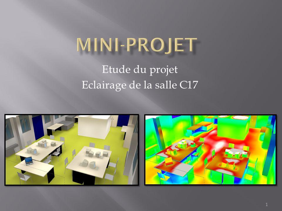 Etude du projet Eclairage de la salle C17