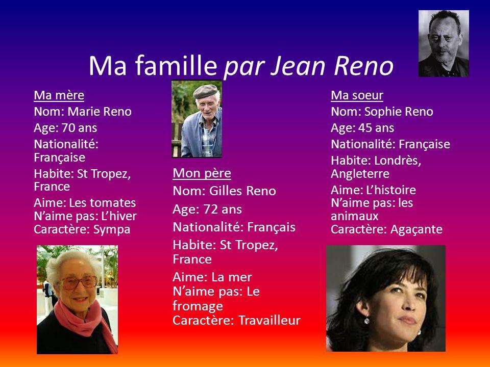 Ma famille par Jean Reno