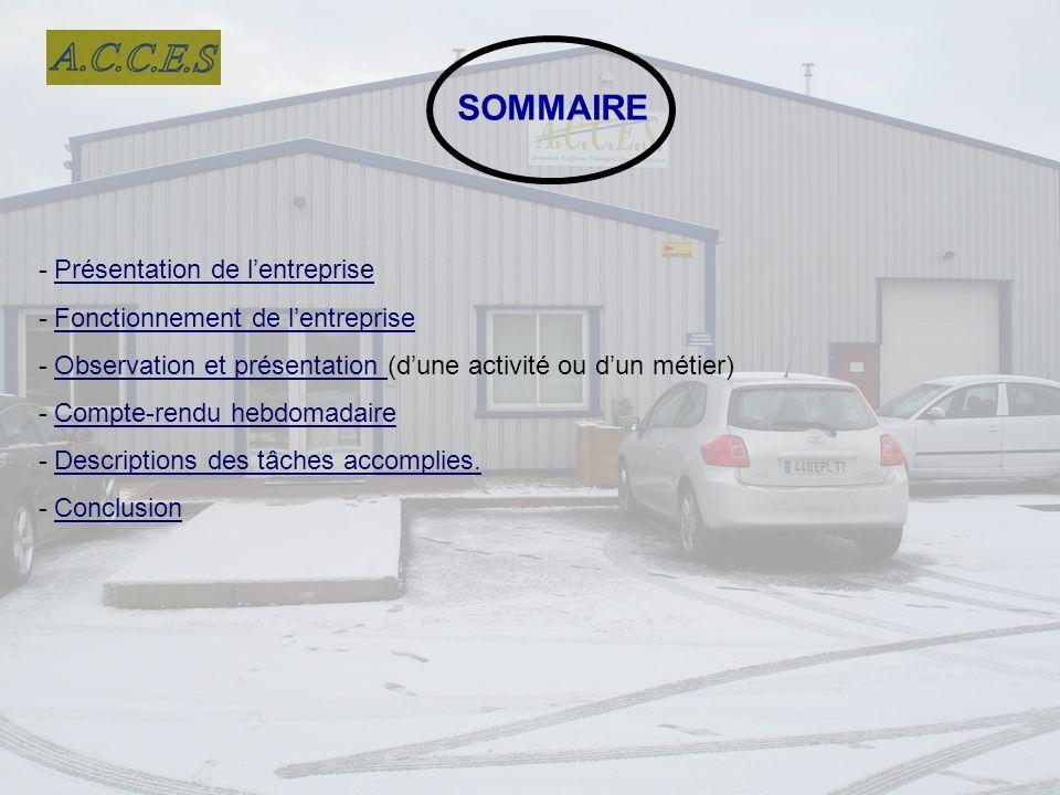 SOMMAIRE - Présentation de l'entreprise
