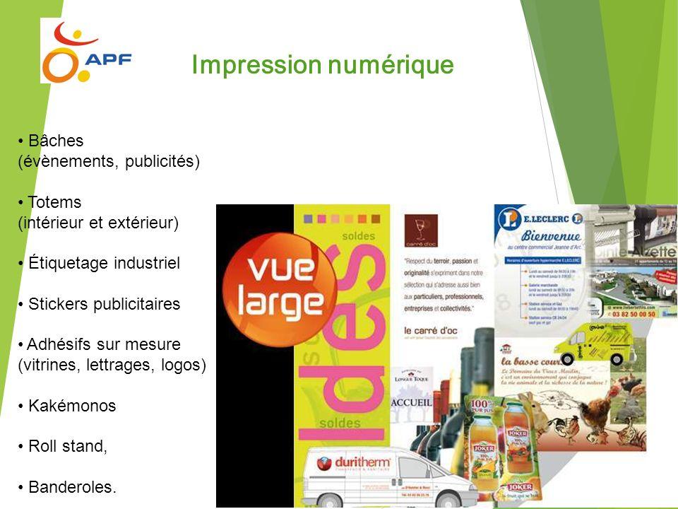 Impression numérique Bâches (évènements, publicités) Totems