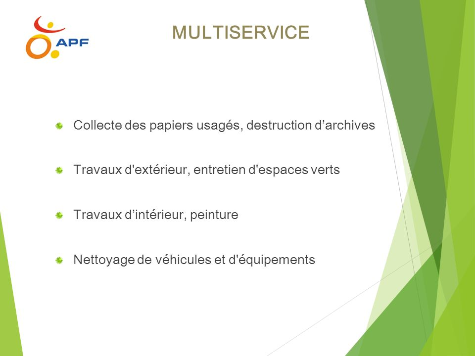 MULTISERVICE Collecte des papiers usagés, destruction d'archives