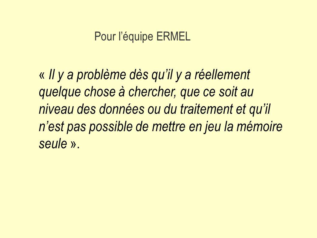 Pour l'équipe ERMEL