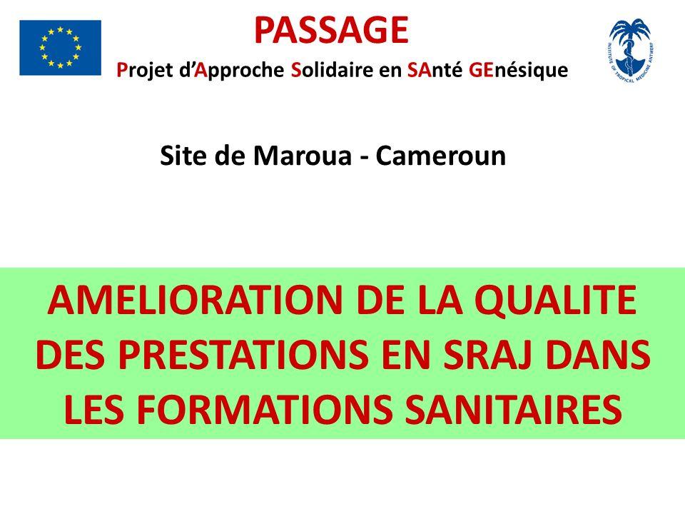PASSAGE Projet d'Approche Solidaire en SAnté GEnésique. Site de Maroua - Cameroun.