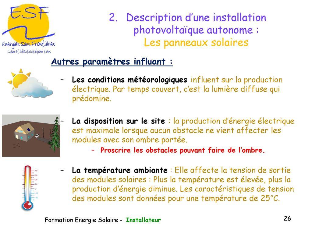 module de formation la gestion du photovolta que ppt. Black Bedroom Furniture Sets. Home Design Ideas