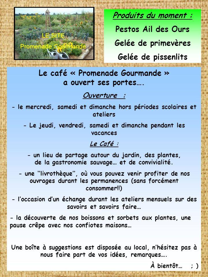Le café « Promenade Gourmande » a ouvert ses portes….