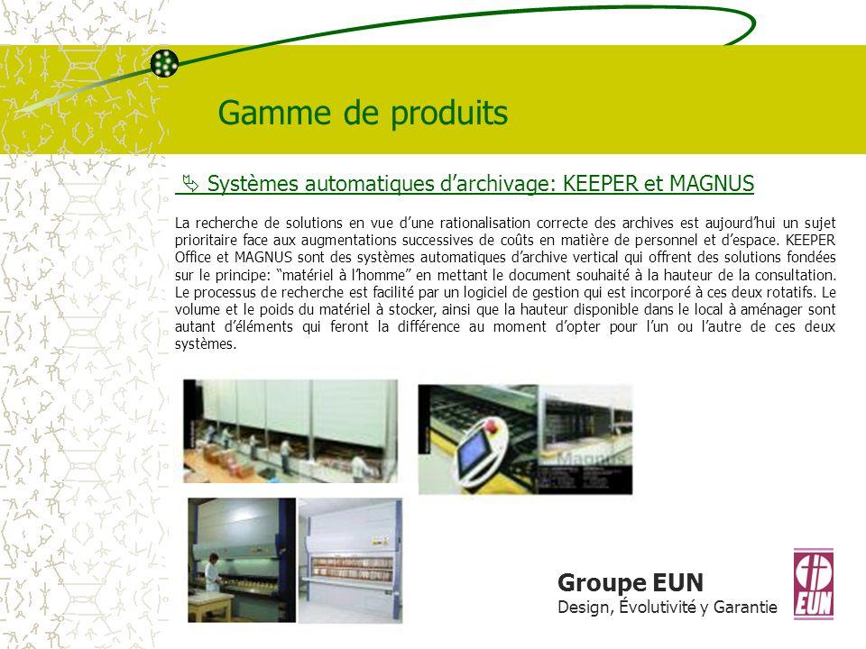 Gamme de produits Groupe EUN
