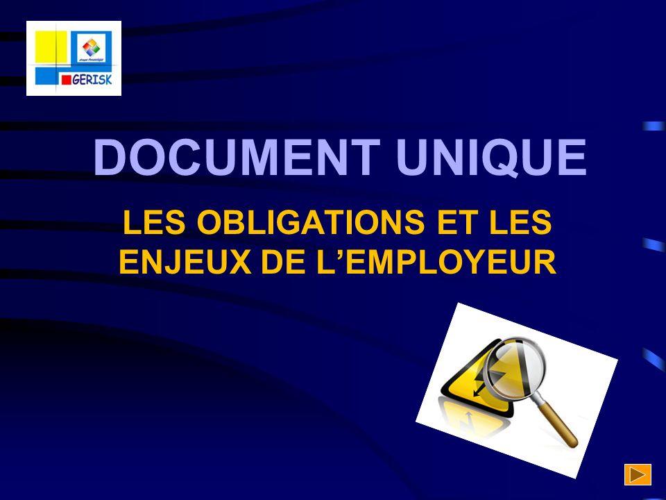LES OBLIGATIONS ET LES ENJEUX DE L'EMPLOYEUR
