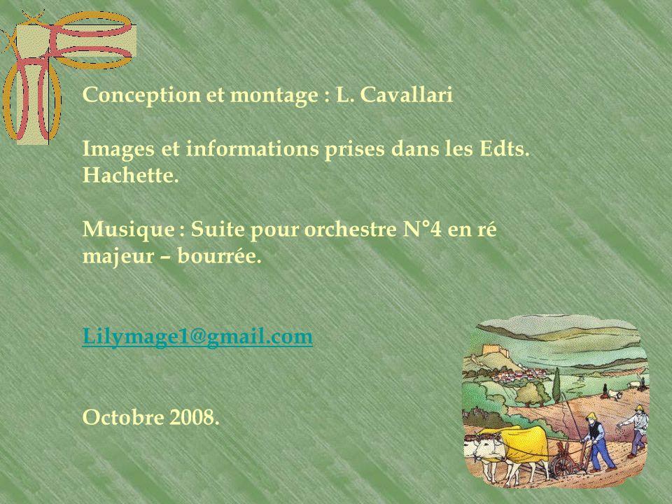 Conception et montage : L. Cavallari