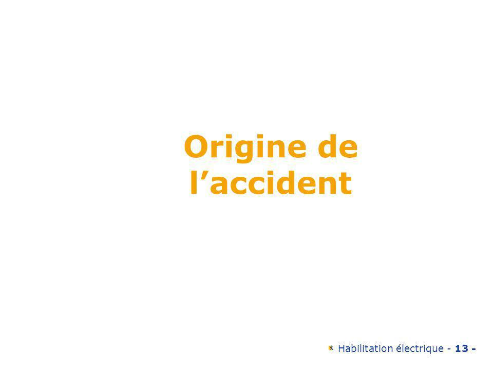 Origine de l'accident