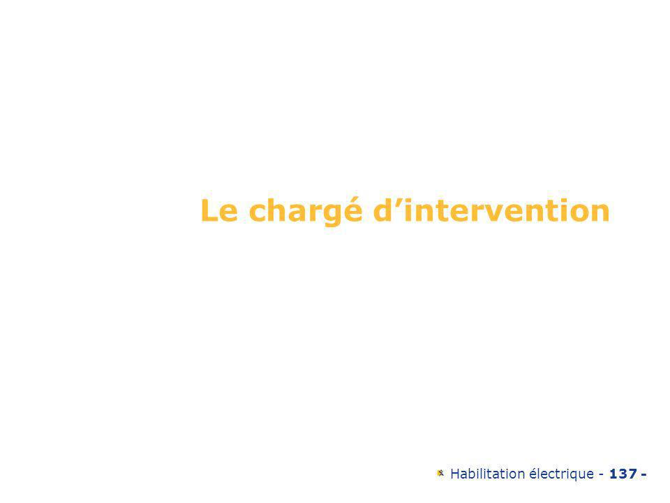 Le chargé d'intervention