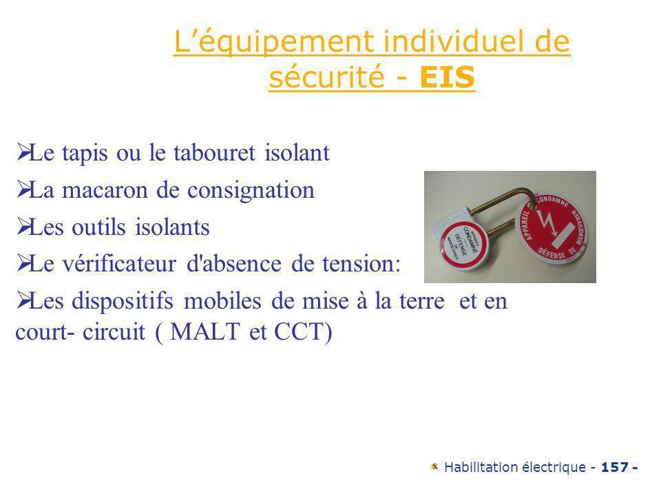 L'équipement individuel de sécurité - EIS