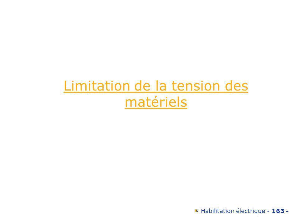 Limitation de la tension des matériels