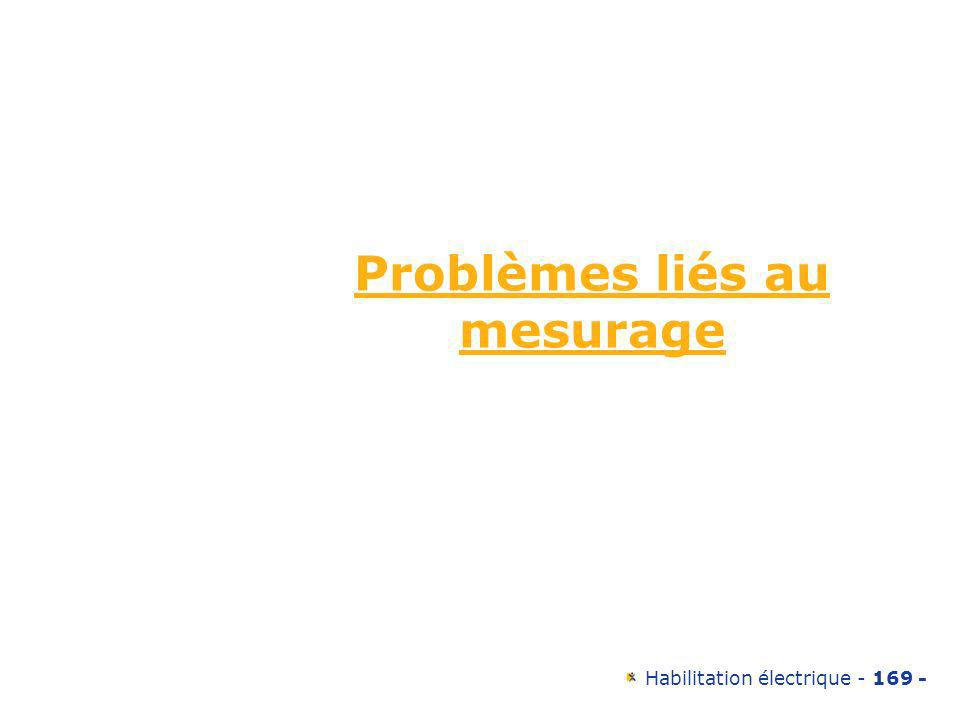 Problèmes liés au mesurage