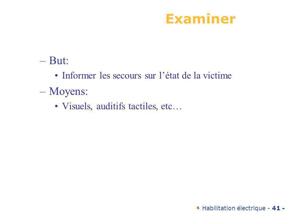 Examiner But: Moyens: Informer les secours sur l'état de la victime