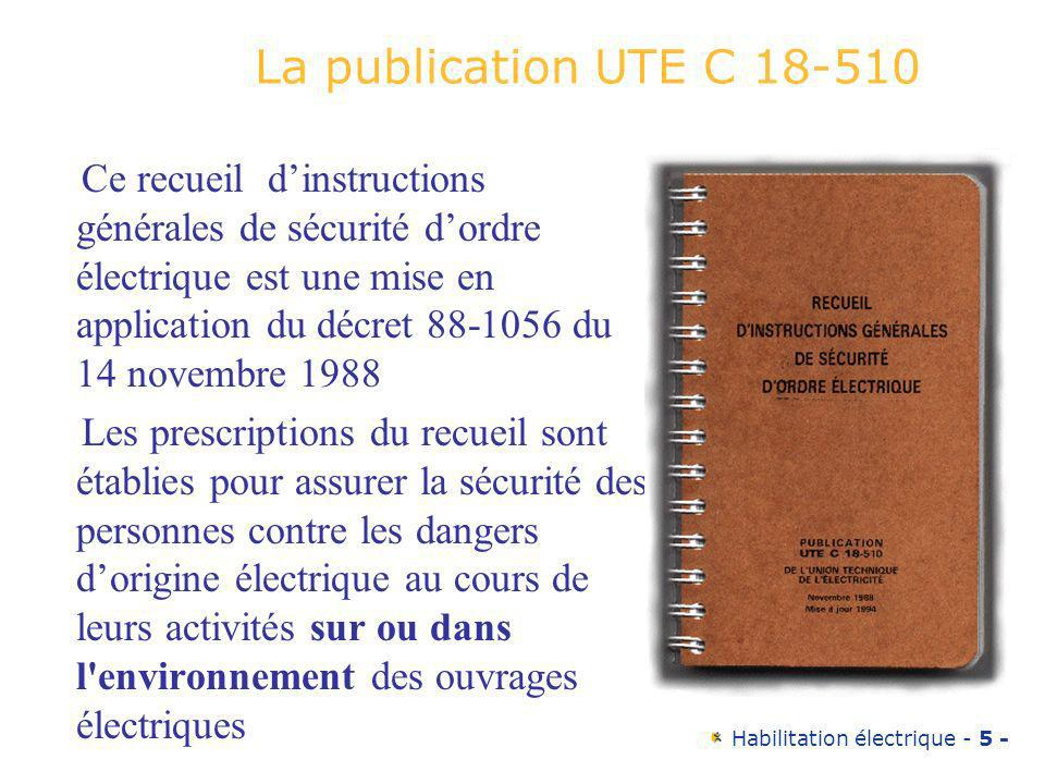 La publication UTE C 18-510
