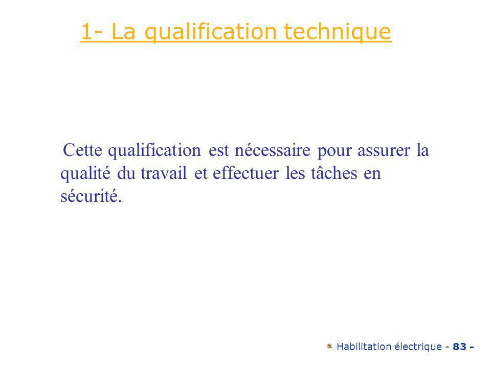 1- La qualification technique