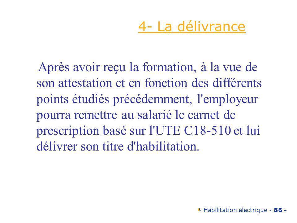 4- La délivrance
