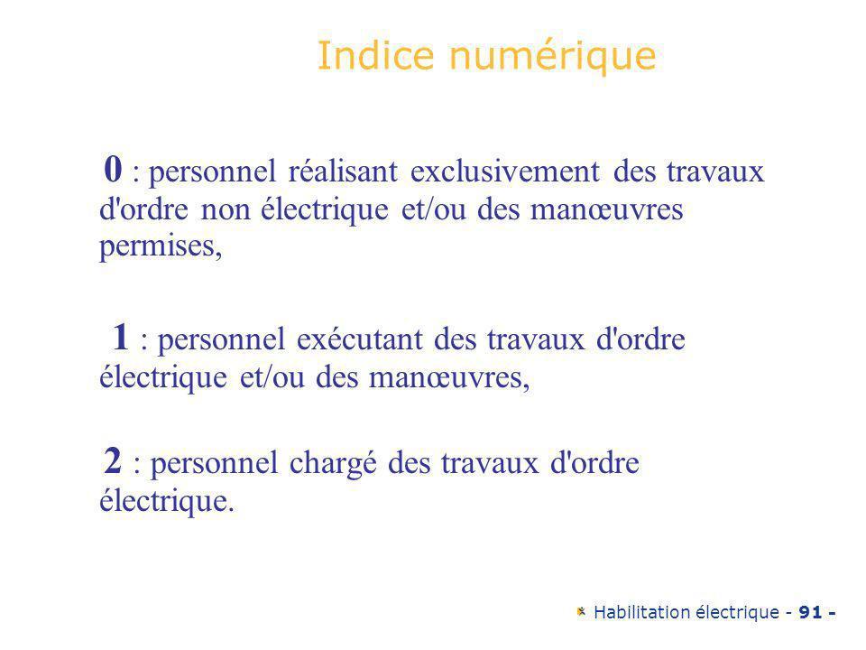 2 : personnel chargé des travaux d ordre électrique.
