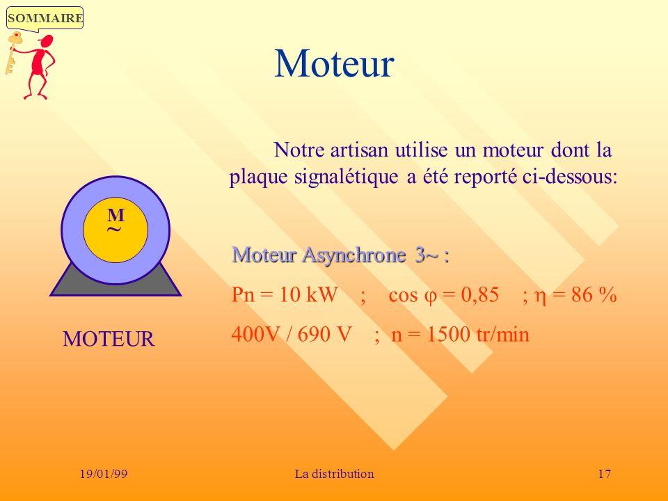 Moteur Notre artisan utilise un moteur dont la plaque signalétique a été reporté ci-dessous: M. ~
