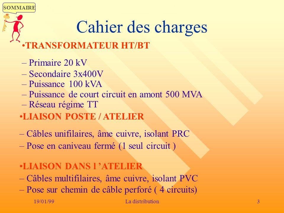 Cahier des charges TRANSFORMATEUR HT/BT – Primaire 20 kV