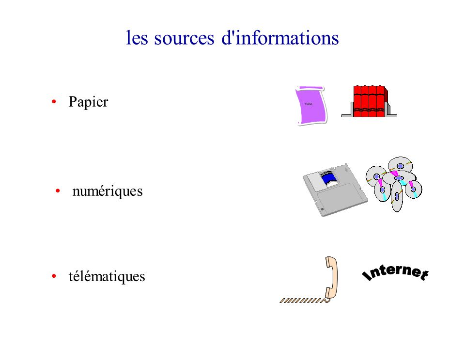 les sources d informations