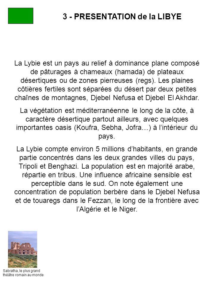 3 - PRESENTATION de la LIBYE
