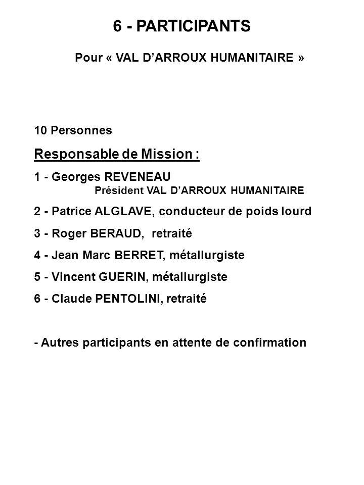 Pour « VAL D'ARROUX HUMANITAIRE »