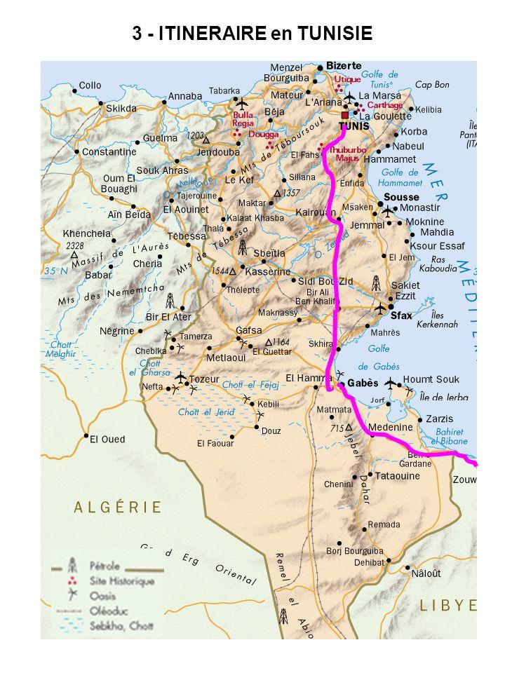 3 - ITINERAIRE en TUNISIE