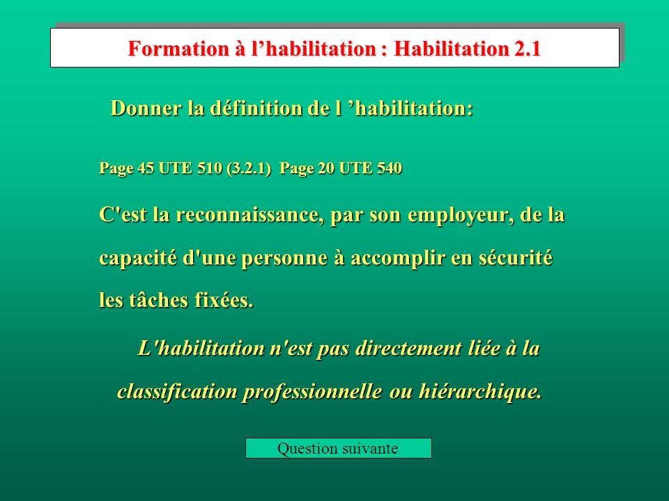 Formation à l'habilitation : Habilitation 2.1