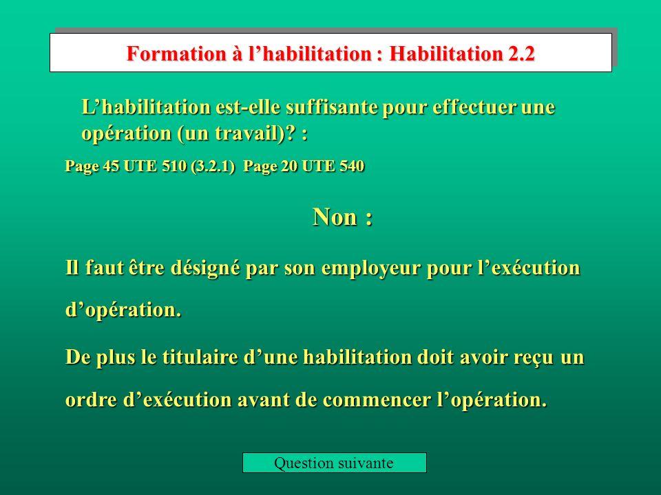 Formation à l'habilitation : Habilitation 2.2