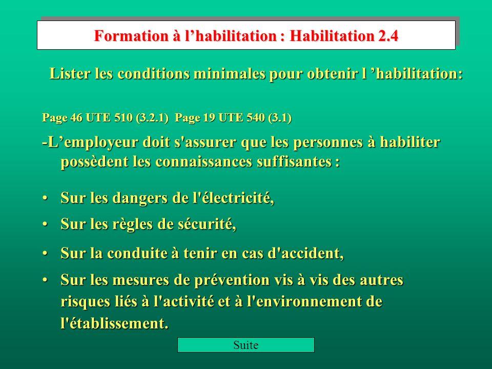 Formation à l'habilitation : Habilitation 2.4