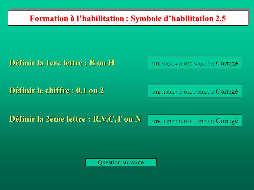 Formation à l'habilitation : Symbole d'habilitation 2.5