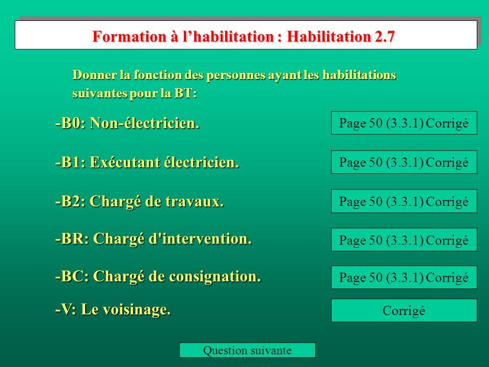 Formation à l'habilitation : Habilitation 2.7
