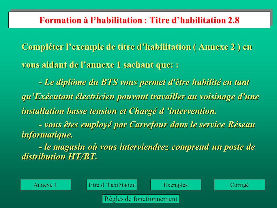 Formation à l'habilitation : Titre d'habilitation 2.8