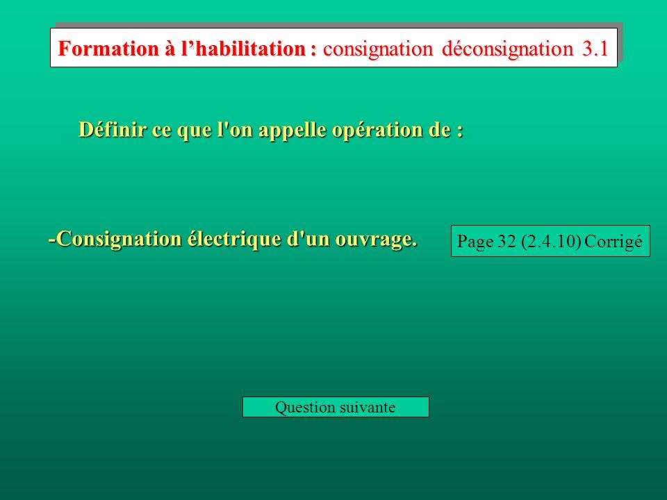 Formation à l'habilitation : consignation déconsignation 3.1