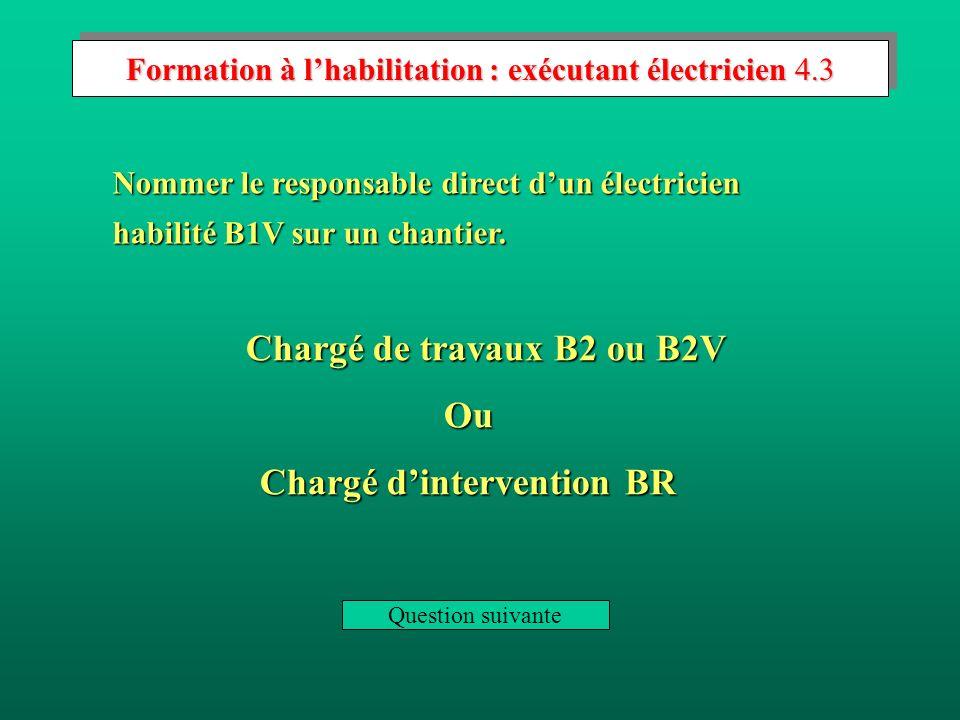 Formation à l'habilitation : exécutant électricien 4.3