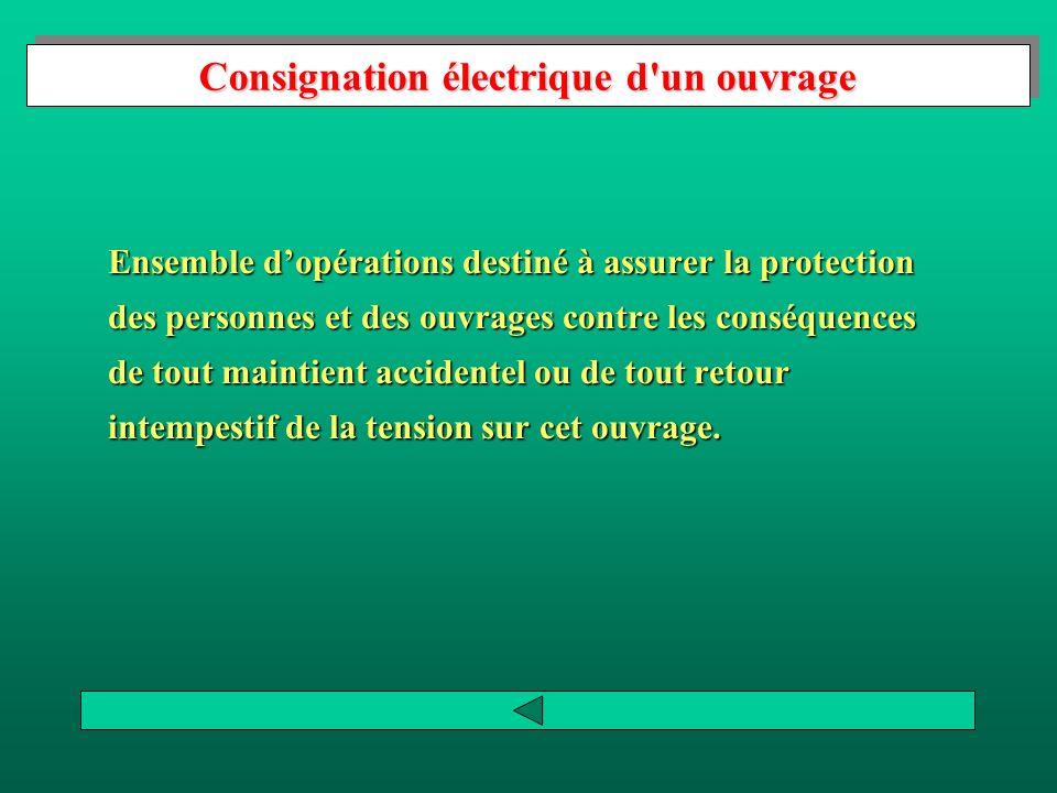 Consignation électrique d un ouvrage