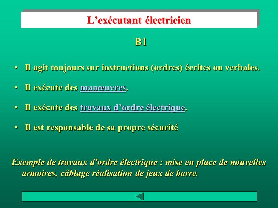 L'exécutant électricien