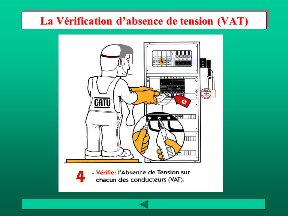 La Vérification d'absence de tension (VAT)