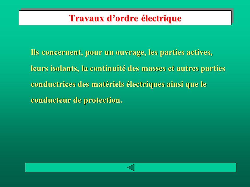 Travaux d'ordre électrique