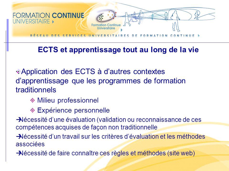 ECTS et apprentissage tout au long de la vie