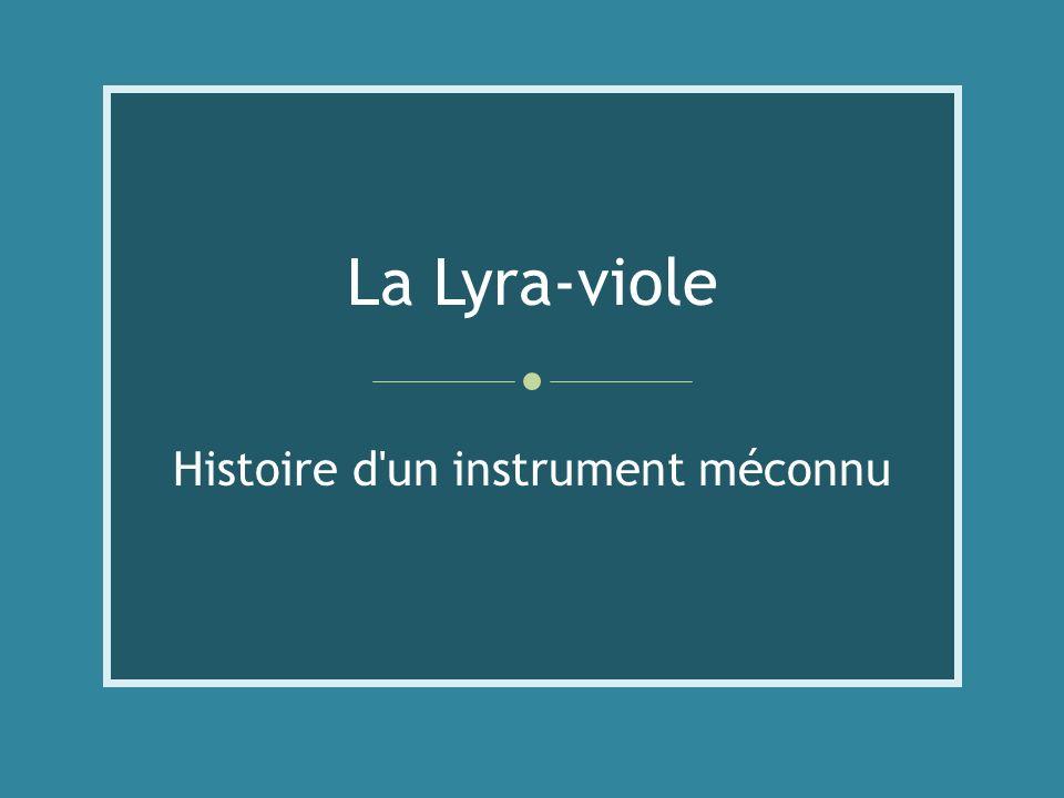 Histoire d un instrument méconnu