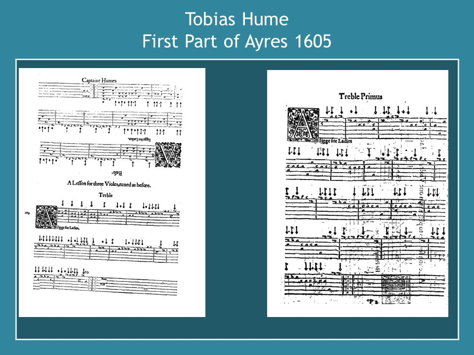 Tobias Hume First Part of Ayres 1605