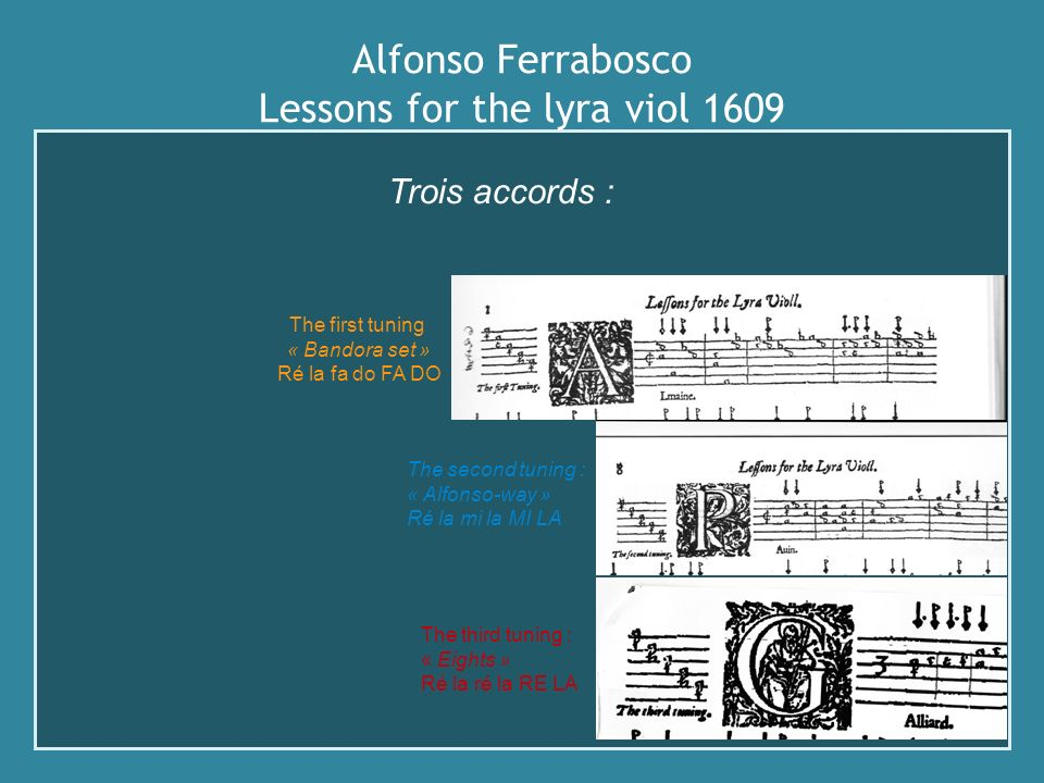 Alfonso Ferrabosco Lessons for the lyra viol 1609