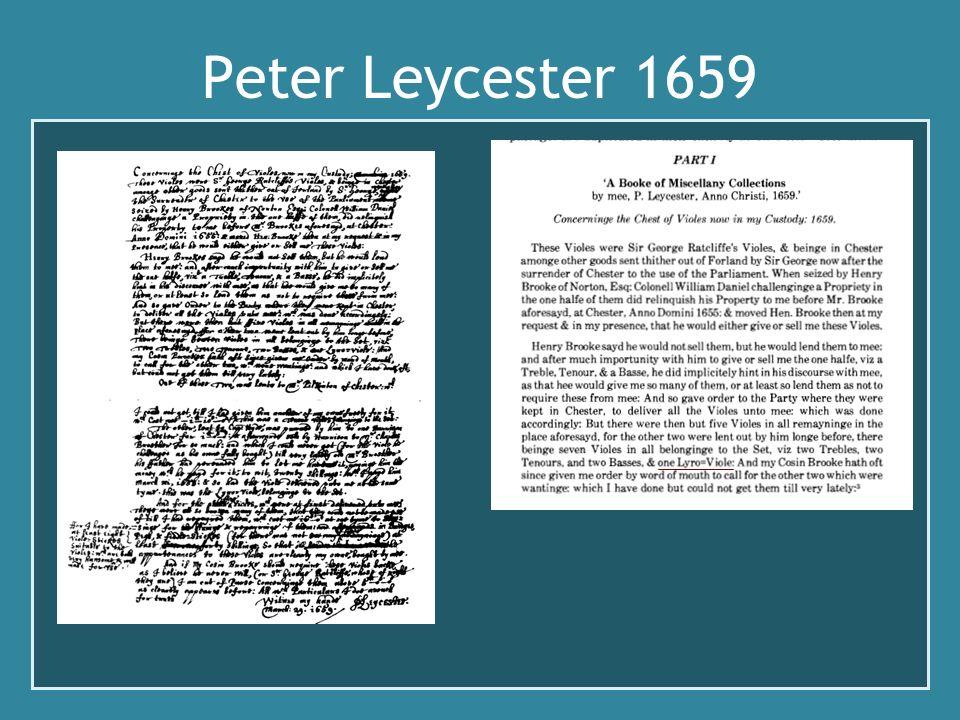 Peter Leycester 1659 Parle de diapason