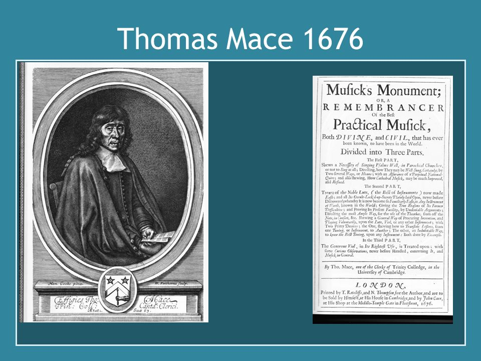 Thomas Mace 1676 Description de la lyra viole