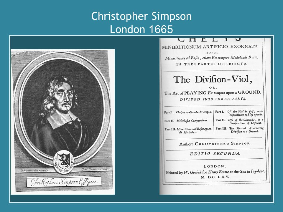 Christopher Simpson London 1665