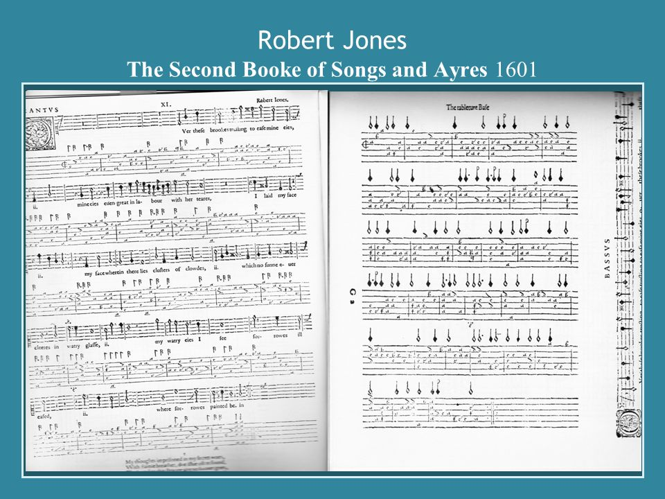 Robert Jones The Second Booke of Songs and Ayres 1601