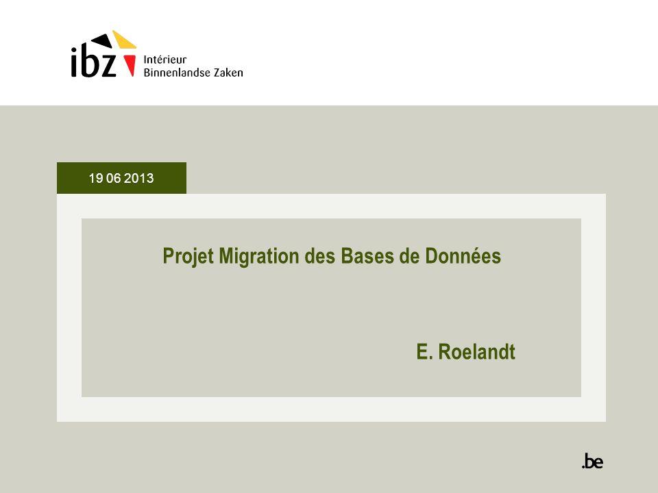 Projet Migration des Bases de Données E. Roelandt