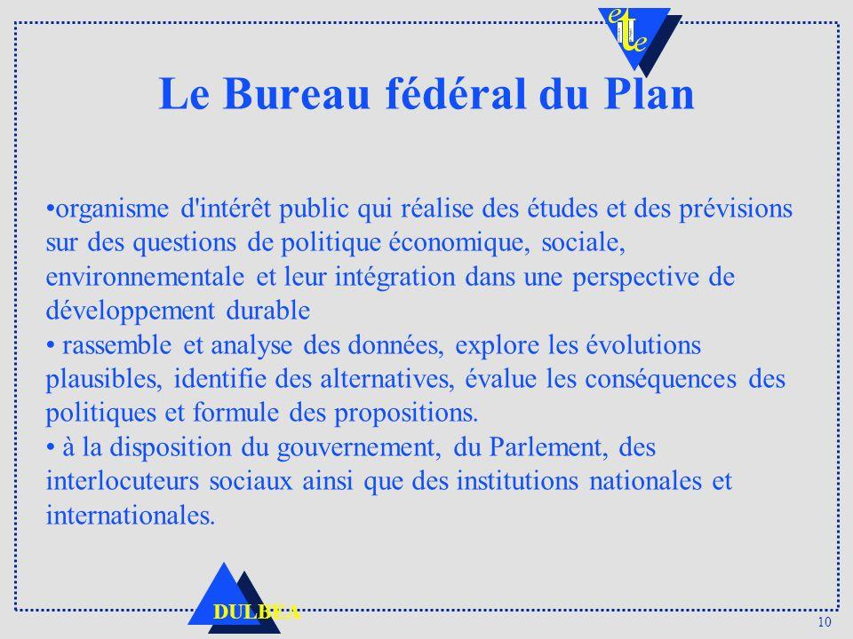 Le Bureau fédéral du Plan